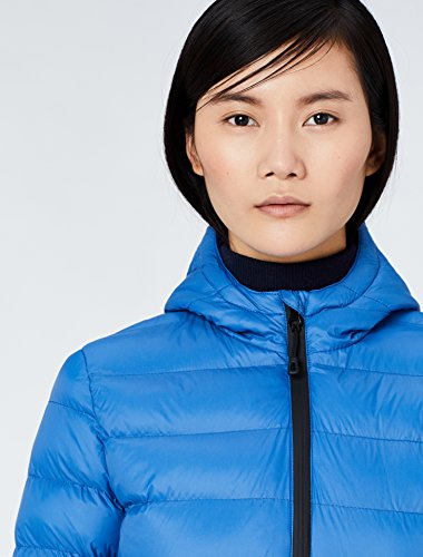 Hood Puffer Blue Jacket Longline MERAKI Women's ATIgPw