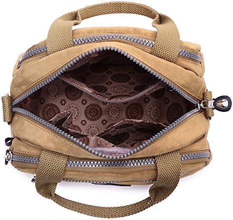 Fashion Womens Waterproof Nylon Messenger Bags Tote Shoulder Bags Girls Casual Handbags Crossbody Small Bag
