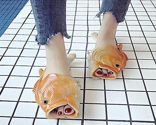 Fish Shoes Slippers Slip Casual Orange Creative Non Beach Slippers Women Fish and CANPPNY Sandals Men Shoe tH8Rq
