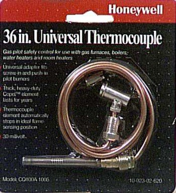 (Honeywell CQ100A1005/U CQ100A1005 Replacement Thermocouple for Gas Furnaces, Boilers and Water Heaters, 36-Inch)