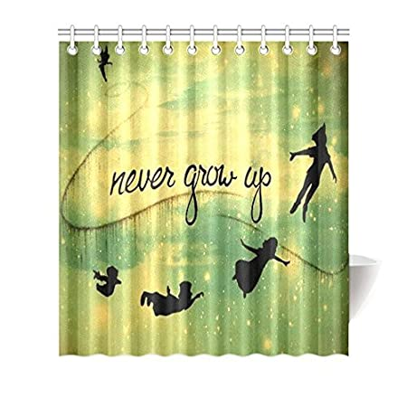 Single Polyester Peter Pan Waterproof Figure Pattern Outside Print Bathroom Accessories Home Decor Bath Shower Curtain 6072 Amazoncouk Kitchen