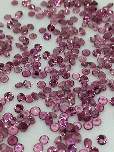 3.5mm Natural Pink Tourmaline Round Faceted AAA Quality For 50 Pieces Loose Gemstone Wholesale Lot For Sale