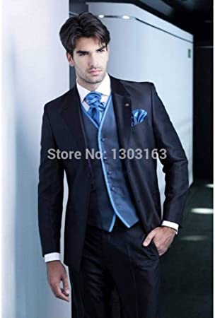 GFRBJK Trajes de hombre Diseño Azul marino Novios Trajes de ...