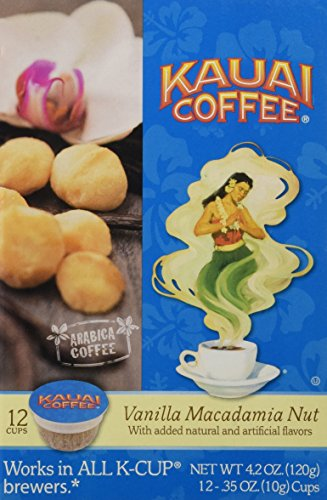 (Kauai Coffee Vanilla Macadamia Nut Single-Serve Cups, 12 Count)