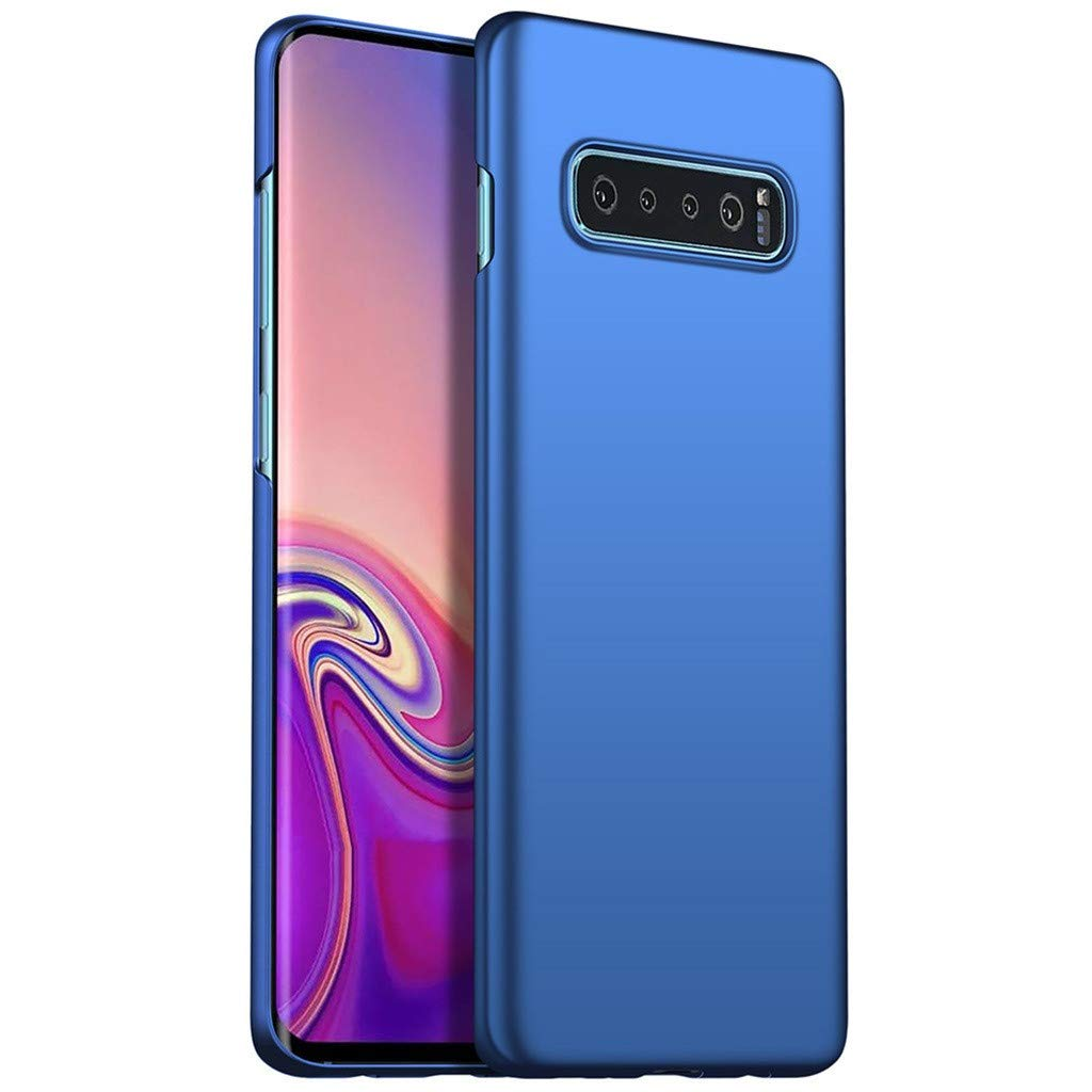Phone Case for Samsung Galaxy S10 Plus 6.3'' Luxury Hard PC Protective Case Cover Ultra-Thin Full Body with Built-in Screen Protector Slim Fit Shockproof Slip Rugged Cover (Blue)