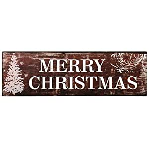Adeco sp0127 decorative wood sign plaque for Christmas wall art amazon