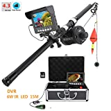 4.3 Inch LCD Monitor Underwater Fishing Video Camera Fish Finder DVR Recording for Ice and Lake Fishing W/ 8GB TF Card HD 1000TVL Camera with 6 PCS 1W IR LEDs