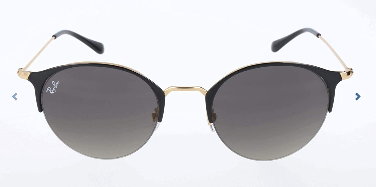RAY-BAN 3578 Gafas de sol, Gold Top Shiny Black, 51 Unisex-Adulto