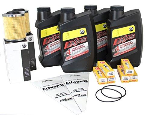 Sea-Doo Spark Oil Change Kit, Oil Filter, O-Ring & NGK Spark Plugs 2 Pack