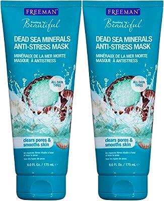 Freeman Feeling Beautiful Facial Anti-Stress Mask, Dead Sea Minerals 6 floz