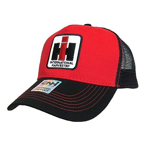 Case IH Applique Hat Red with Black Mesh