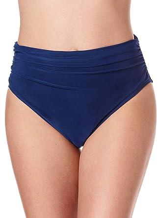 fbf0dfb8b1ab5 Magicsuit Women's Swimwear Fabric Shirring Jersey Brief Swim Bottom with  Full Coverage and No-Show