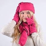 Women's Warm Polyester Fleece Winter Set Fur Trim