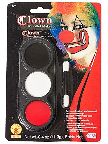 Scary Clown Makeup Ideas (Tri Color Palette Clown)