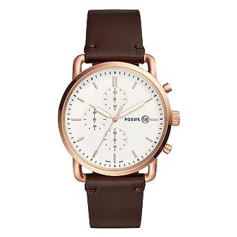 f9457915289e Fossil Reloj Cronógrafo para Hombre de Cuarzo con Correa en Cuero FS5476   Amazon.es  Relojes