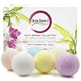 Bath Bomb for Sensitive Skin Large 4.2oz Bath Bombs Gift Set of 6: Bring Spa Home! Lush, Moisturizing & Fragrant Skin Care Products. Unique, Organic Bomb Kit. Holiday & Birthday Gifts for Men & Women: Sister, Teacher, Wife & Mom