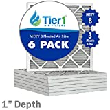 16-1/2x21-1/2x1 Dust & Pollen Merv 8 Pleated Replacement AC Furnace Air Filter (6 Pack)