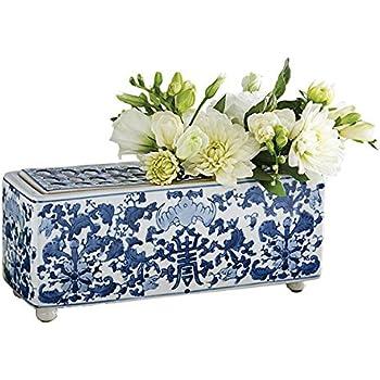 Amazon Com Spode Blue Italian Hexagonal Vase Home Amp Kitchen