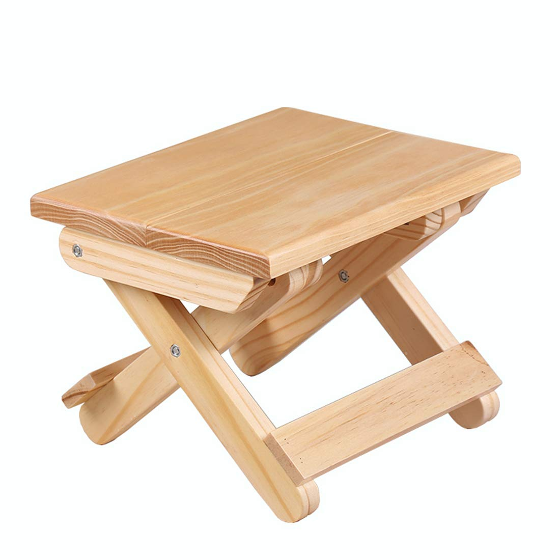 Garwarm Children's Wood Folding Step Stool, Portable Simple Household Stool Small Bench, Game Stool or Outdoor Fishing Stool Used for Picnic Fishing Bathroom Garden, 7 Height 7 Height