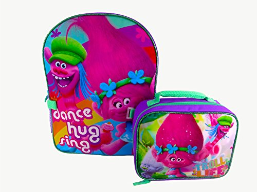 Dreamworks Trolls Purple Backpack Detachable