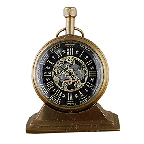 World globe clocks amazon style antique retro vintage inspired brass metal craft world globe table clock home decor gumiabroncs Image collections