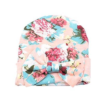 Couleur A Z-Chen Lot de 3 Bonnet de Naissance Nouveau N/é en Coton pour 0-6 Mois B/éb/é Fille