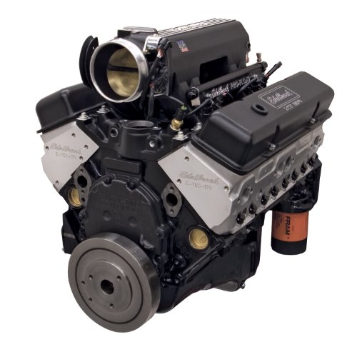 Edelbrock Crate Engines (Edelbrock 46383 Hi-Torq 383 Pro-Flo 3 XT EFI Crate Engine 9.5:1 Compression 408HP/450 Torque Incl. Edelbrock Throttle Body PN[3869] w/o Water Pump Black Hi-Torq 383 Pro-Flo 3 XT EFI Crate Engine)