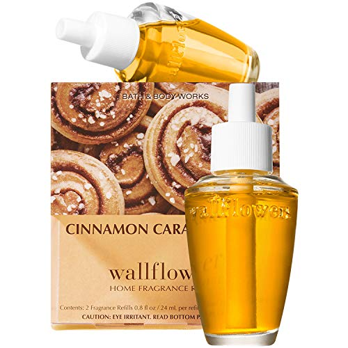 (Bath and Body Works New Look! Cinnamon Caramel Swirl Wallflowers 2-Pack Refills)