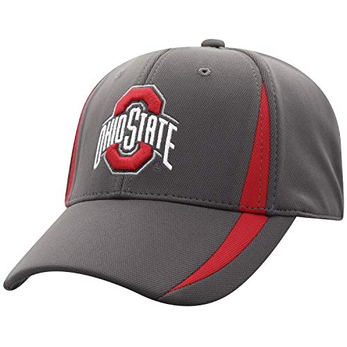 Top of the World Ohio State Buckeyes Men's Fitted Hat Icon, Charcoal, One Fit