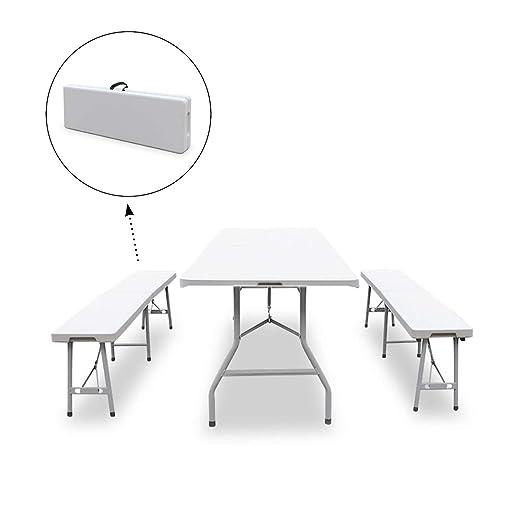 SVITA – Conjunto de mesa buffet con bancos, plegable, para comedor ...