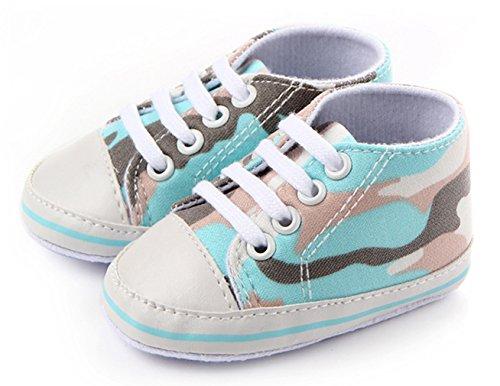 Eozy Babyschuhe Jungen Mädchen Neugeborene Weiche Bunte Lauflernschuhe Sneaker Hellblau