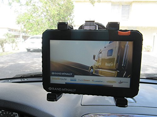 Ramtech Car Vehicle Truck Windshield Dash Suction Mount Holder Bracket Stand Suitable For 7-inch GPS Magellan RoadMate 9020T-LM / 9200-LM / 9250T-LMB / 9261T-LM / 9270T-LM (WMB7)