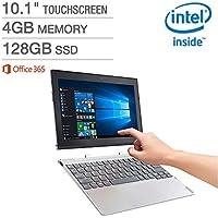 Lenovo Miix 10.1 320 2-in-1 Laptop - Intel Atom x5-Z8350 Processor at 1.44GHz - 4GB LPDDR3 RAM - 128GB Embedded MultiMedia Card - Microsoft Windows 10 Home (64 bit)