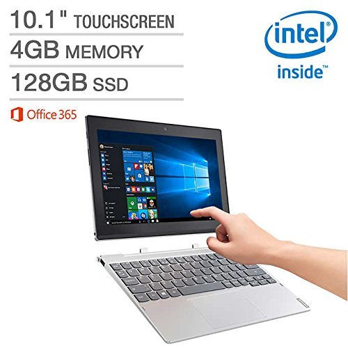 "Lenovo Miix 10.1"" 320 2-in-1 Laptop – Intel Atom x5-Z8350 Processor at 1.44GHz – 4GB LPDDR3 RAM – 128GB Embedded MultiMedia Card – Microsoft Windows 10 Home (64 bit)"