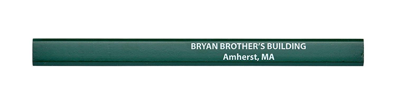 Pencil Guy Promotional Personalized Imprinted Carpenter Pencils- 1000 per Box Green