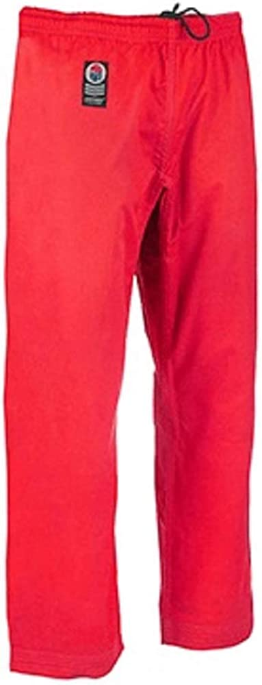 ProForce Gladiator 8oz Combat Karate Pants Red Size 5