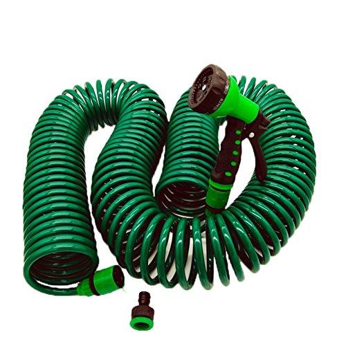 Ocamo Gardening Water Gun Spring Tube Telescopic Pipe Water Spray Nozzle for Gardening Car Wash 30M by Ocamo