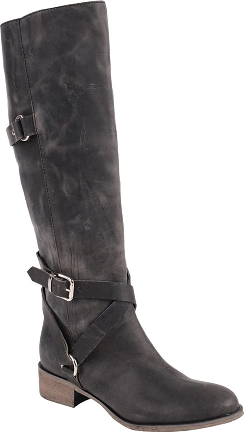 Women Leather Knee High Strappy Boots - DeluxeAdultCostumes.com