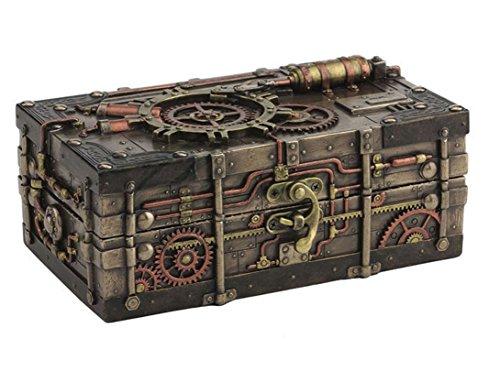 "7.5"" Steampunk Jewelry Box Home Decor Gothic Statue Collectible Trinket Box"