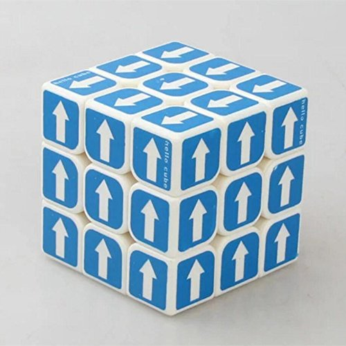 QTMY Plastic Arrow 3x3x3 Speed Magic Cube Puzzle