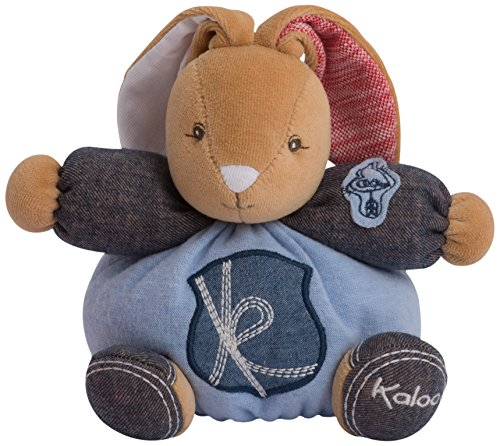 (Kaloo Denim Plush Toy, Charming Chubby Rabbit, Small )