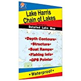 Harris Chain of Lakes Fishing Map