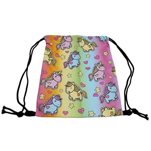 BeautyLife/ //& # x24/C7; Las mujeres ni/ñas mochila bolsa Colorful Unicorn Mochila Bolso de escuela