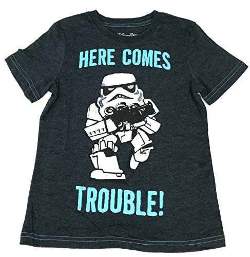 DisneyParks Star Wars Stormtrooper Here Comes Trouble Boys Youth Shirt (XS)