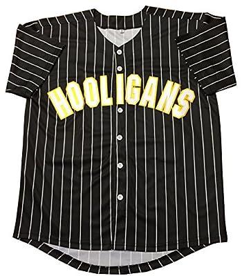 Kooy Bruno Mars #24K Hooligans Black Baseball Jersey Men Adult