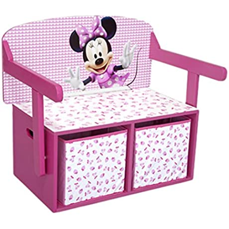 Delta Minnie Mouse Convertible Toy Box Desk