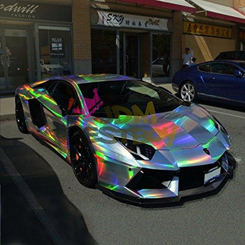 Amazon Com Ezautowrap Purple Holographic Rainbow Chrome Car Vinyl