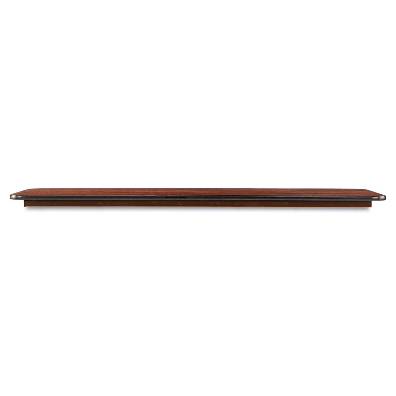 60 x 18 Melamine Folding Rectangular Utility Picnic Table, Walnut