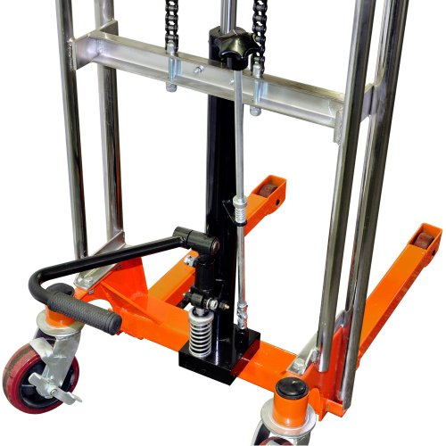 Fork Lift Foot : Bolton tools new foot operated pallet lift stacker