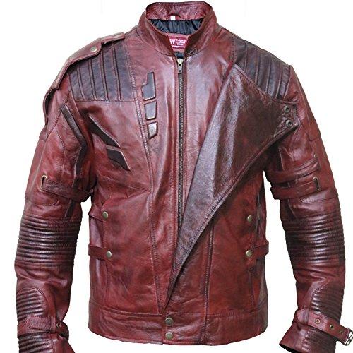 SkySeller-uk - Chaqueta - Biker - para hombre rojo (Maroon)